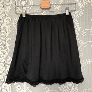 Vanity Fair Black Mini Slip Skirt